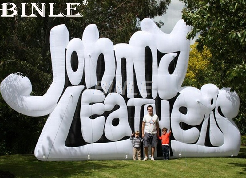 Free shipping custom stage background giant inflatable letter logo wall advertising decoration outdoor inflatable signs for sale free shipping stock giant inflatable snowman outdoor advertising inflatable christmas decoration
