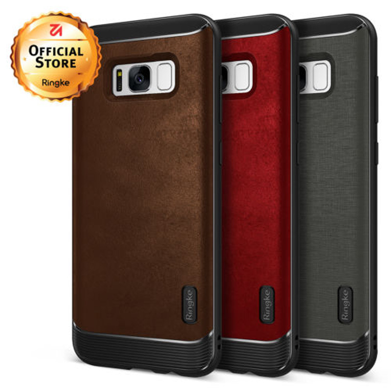 bilder für Ringke Flex Fall für Samsung Galaxy S8 Flexible TPU und Pu-leder Hybrid Defensive Phone Cases für Galaxy S8 Plus