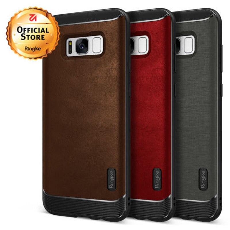 imágenes para Ringke Flex para Samsung Galaxy S8 Flexible Híbrido TPU y PU Cuero Cajas Del Teléfono para la Galaxia S8 Defensiva Más