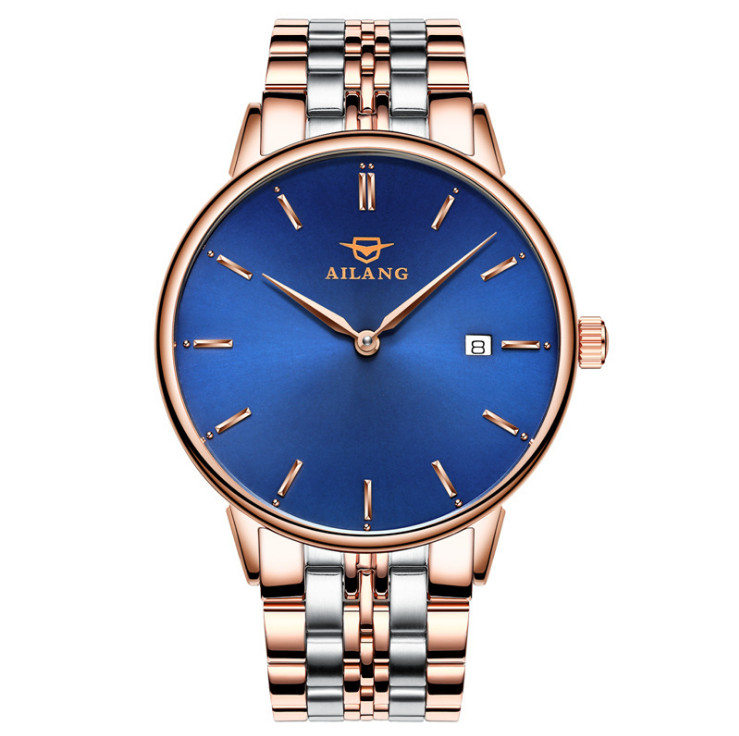 New Arrival AILANG Brand Men Elegant Business Watches Automatic 2 Hands Calendar Dress Wrist watch Ultra-thin Relojes 3ATM W023 brand ailang men tourbillon automatic watches self wind real leather business dress wrist watch moon phrase relojes 3atm nw3302