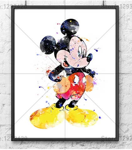 UK Dreamy Mickey/&Minnie 5D Full Diamond Painting Embroidery Cross Stitch Kit QW