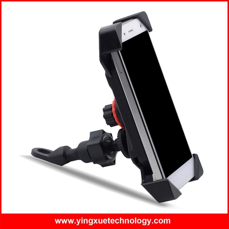 imágenes para Universal de la Motocicleta de La Bici del Manillar Rail Mount Teléfono Celular Titular Scooter Espejo Retrovisor Soporte ajustable para 4-7 pulgadas Teléfonos celulares