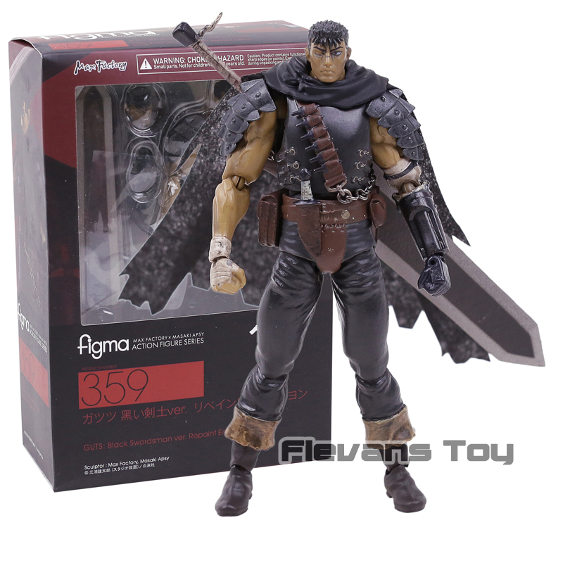 Berserk Guts Figma 359 Black Swordsman Edition PVC Action Figure Toy Collection Movable Model FigurineBerserk Guts Figma 359 Black Swordsman Edition PVC Action Figure Toy Collection Movable Model Figurine