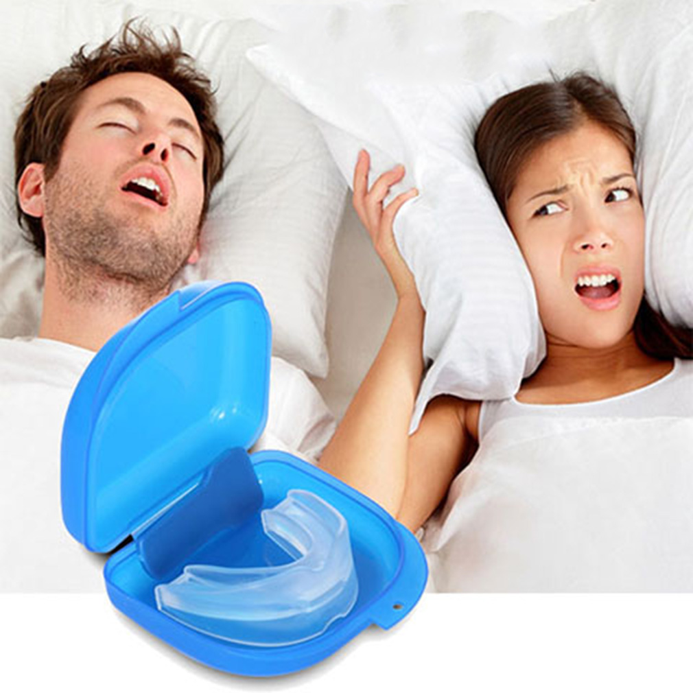 Mouth Guard Stop Teeth Grinding Anti Snoring Bruxism With Case Box Sleep Aid Eliminates Snoring Health Care 2018  Sale