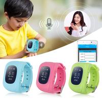 Newest GPS Tracker Watch For Kids SOS GSM Mobile Phone App For Android Emergency Anti Lost