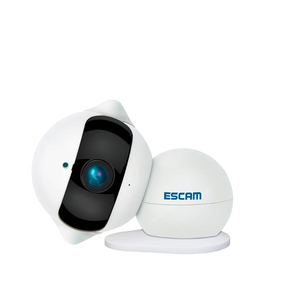 Escam Ip Camera Onvif Wifi HD P2P Wireless Cctv Security Home Camera 360 Degree IR CUT Night Vision Support 64G Micro SD Card