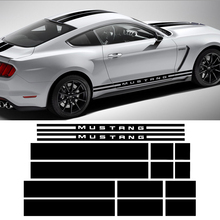 цены Car Styling Door Side Stripes Front Rear Bumper Hood Roof Trunk Kit Body Graphic Decal Car Stickers for Ford Mustang 2015-2017