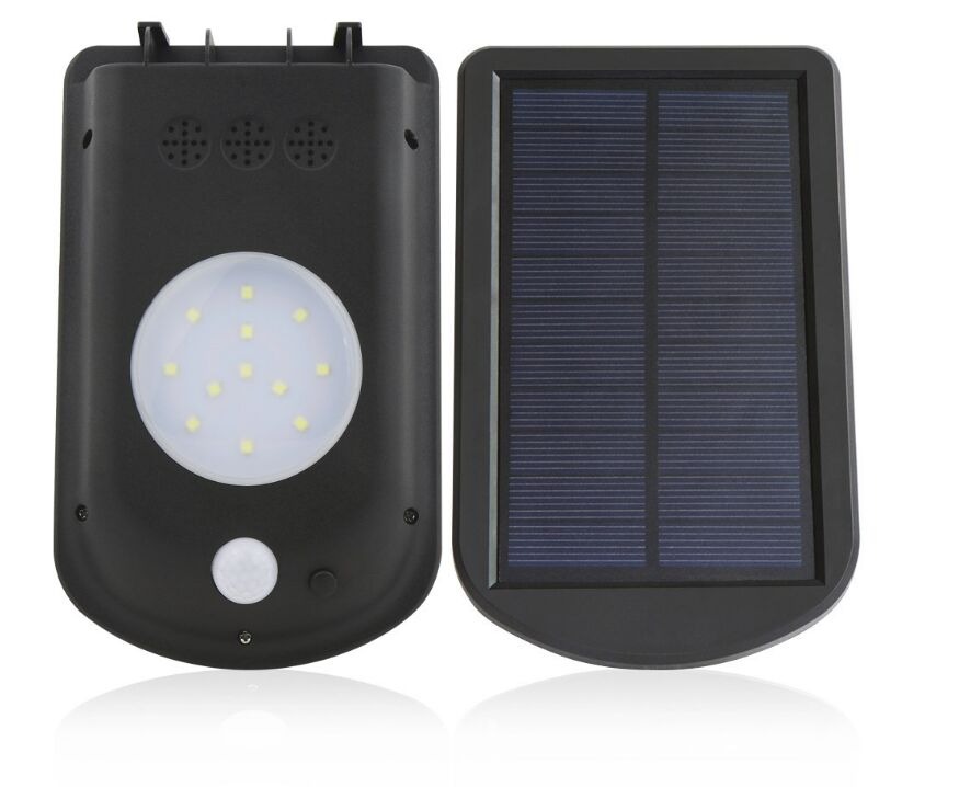 Nieuwe 12 LED Zonne-energie PIR Bewegingssensor Wandlamp Outdoor - Buitenverlichting