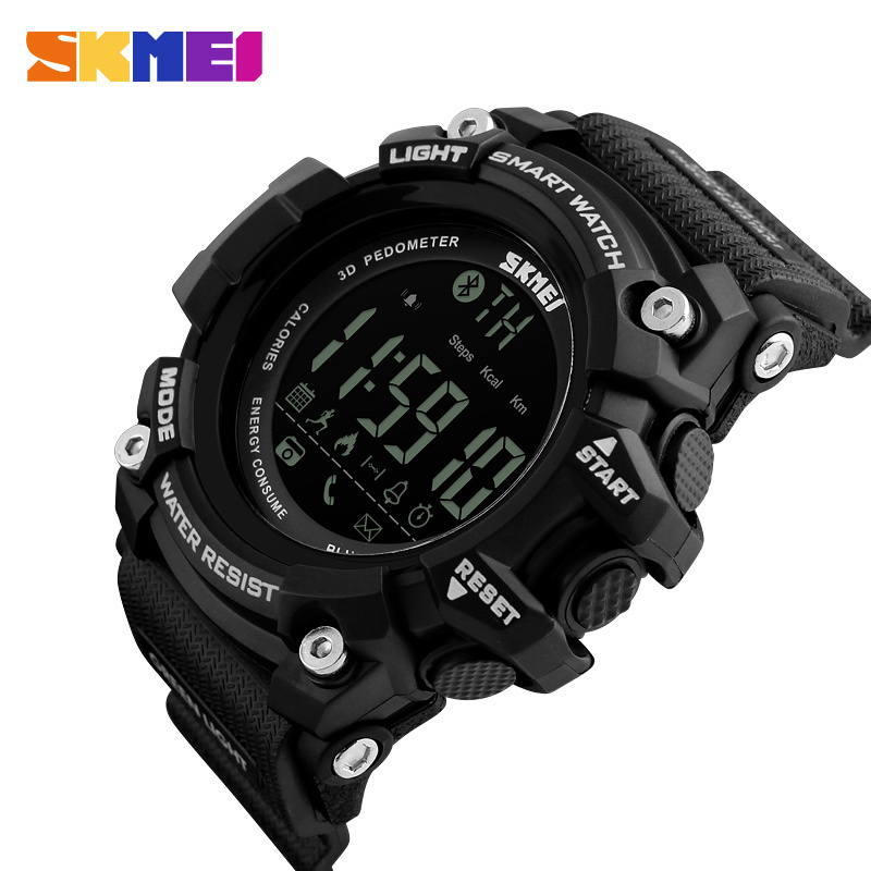 SKMEI Outdoor Sport Smart Watch Men Bluetooth Multifunction Fitness Watches 5Bar Waterproof Digital Watch reloj hombre 1227/1384 1