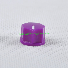10pcs Colorful Purple Rotary Control Plastic Potentiometer Knob Guitar Knurled Shaft Hole