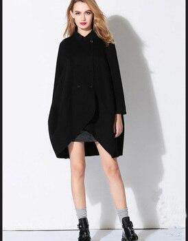2019 handmade double-sided cashmere coat cape loose big yards fashion wild-type coat new listing