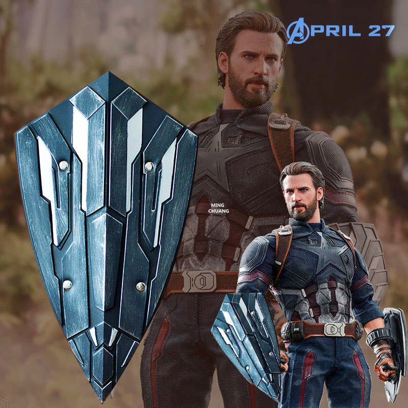 Avengers Infinity War Superhero Captain America Shield 1:1 LIFE SIZE Steve Rogers Brassart Action Figure Collectible Model Toy