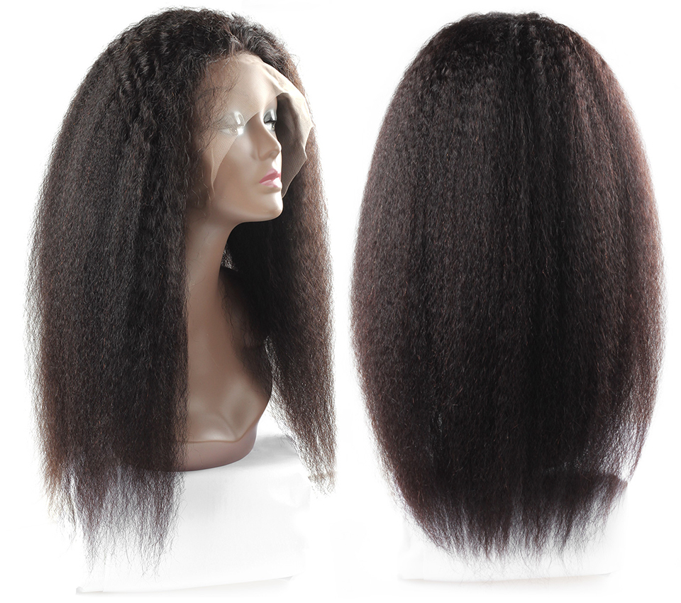 Allove yaki straight human hair lace front wigs (4)