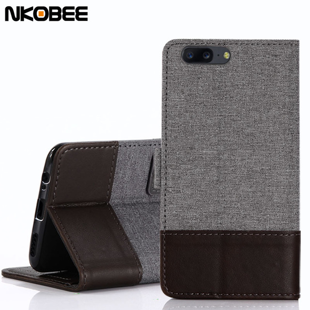 sports shoes 0d92e 05ce9 US $4.99 |NKOBEE Oneplus 5T Flip Case Wallet Card Holder Stand Oneplus 5  Case Original Protetive Linen+Leather Stitching One Plus 5 Cover-in Flip ...