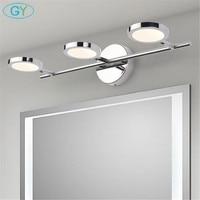 2019 New Stainless Steel Cabinet mirror light 8W 12W 16W led lamp bathroom washroom wall light Modern minimalist vanity lights