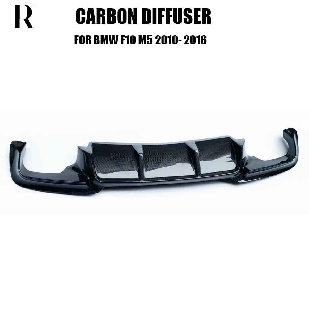 M5 TR Style Carbon Fiber Rear Bumper Lip Diffuser for BMW F10 Original M5 & Taiwan AN M5 Bumper 2010 - 2016 bmw f30 dokladka zderzaka