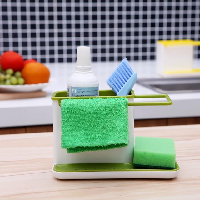 1pcs plastic multifunction racks kitchen sink utensils holders