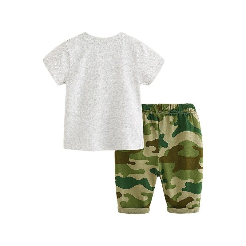 I.K niemowląt chłopców letnich dinozaurów krótkie zestawy - Ubrania dziecięce - Zdjęcie 2