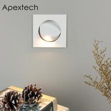 Apextech 凹型 3 ワット CREE の Led ベッドサイド読書壁ランプ現代の北欧スタイルの寝室のナイトライトビーム角調整可能な自由に