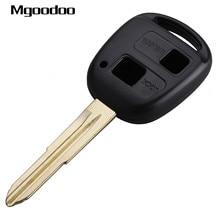 цена на Mgoodoo 2 Button Keyless Entry Remote Key Shell Case For Toyota Yaris Avalon Camry RAV4 Corolla Echo Uncut Blade Replacement Fob