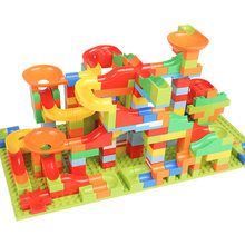 165-330pcs Marble Race Run Small Building Blocks Compatible Legoed DIY City Bricks Set Educational Constructor Toys for Children(China)