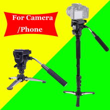 For Canon Nikon DSLR Camera Yunteng 288 Pro Photography Monopod VCT-288 + Fluid Pan Head Ball + DV Unipod Phone Clip Holder