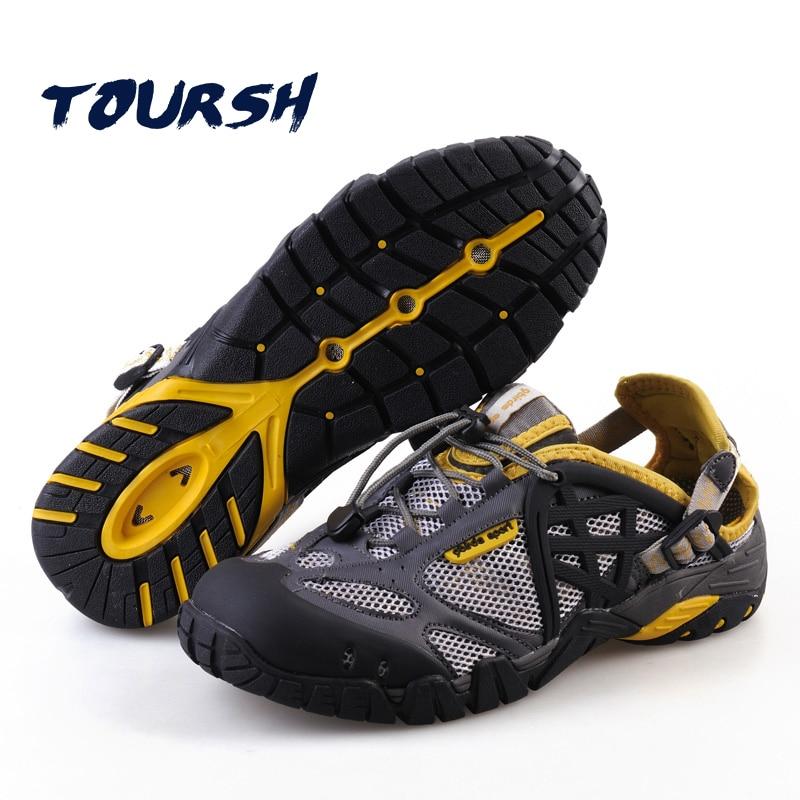 TOURSH 2017 Outdoor Sneakers Breathable Hiking Shoes Big Size Men Women Outdoor Hiking Sandals Men Trekking Trail Water Sandals