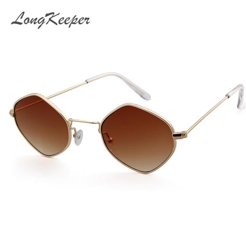 92692b65c3 LongKeeper Polygon Shape Sunglasses Women Men Luxury Brand Designer Clear Lens  Sun Glasses Hexagon Metal Frame Eyewear Gafas-in Sunglasses from Apparel ...