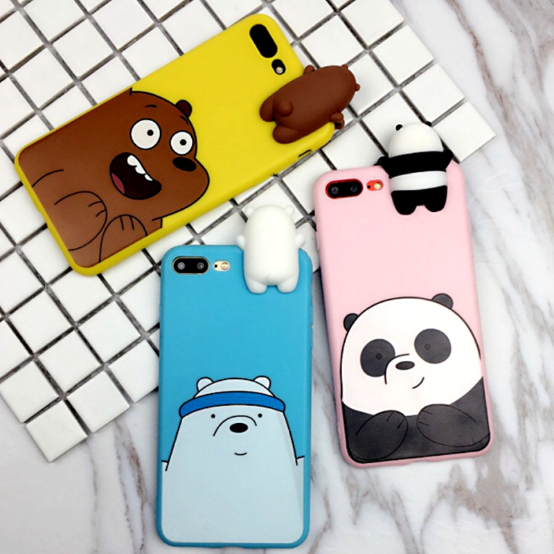 For Xiaomi Redmi 6 Pro Case Cute Cartoon We Bare Bears brothers toys soft TPU Silicon phone case For Redmi 6 Pro Cover in Fitted Cases from Cellphones Telecommunications