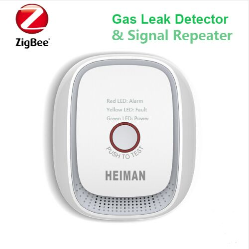 Heiman Wireless Zigbee smart natural gas,coal gas,LPG combustible gas leakage sensor detector freeshipping rs232 to zigbee wireless module 1 6km cc2530 chip