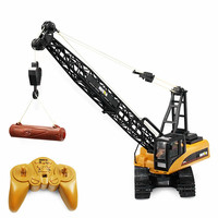 RC Trucks HUINA Toys 1572 1 14 15CH RC Alloy Crane Engineering Truck RTR Movable Latticed