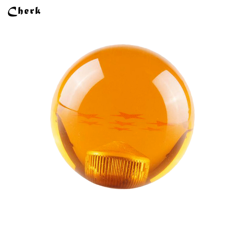 Высокое качество Лидер продаж универсальный авто Dragon Ball Янтарный Оранжевый Рычаги передач для автомобиля красные звезды модный автомобиль...