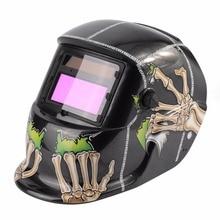 Solar Powered Auto-darkening Welding Helmet Welding Face Mask Arc Tig Mig Mask Grinding Welding Mask Skull Pattern