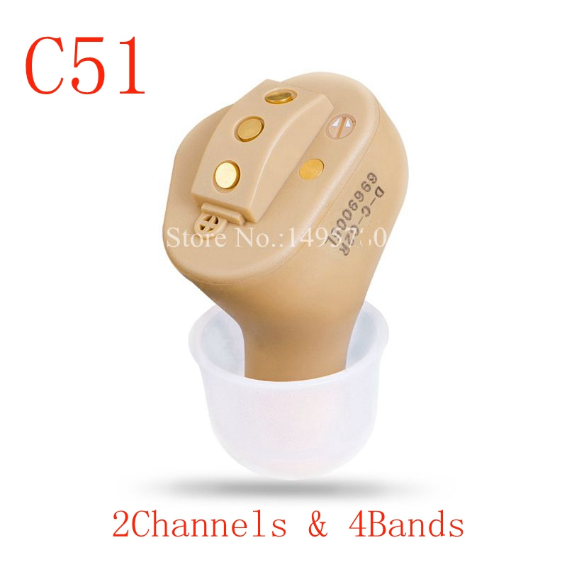 Invisible Complete In Ear Digital Hearing Aid 2/4/6 Channels USB Rechargeable CIC Hearing Aid MINI Sound Amplifier