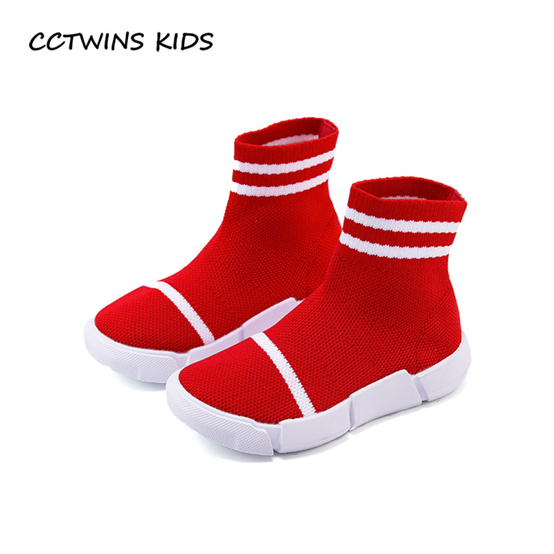 CCTWINS KIDS 2018 Spring Chidren Fashion Mesh Casual Shoe Baby Girl Brand High Top Sneaker Toddler Black Sport Trainer F2196
