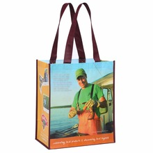 Free Shipping Custom Laminated Full Color PP Non-Woven Shopping Bag Grocery Tote Bag With LOGO