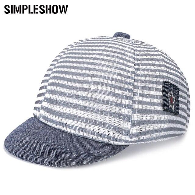 adc51dda3f0a5 ¡De moda! los niños de algodón gorra Snapback para niños sombrero de malla  Casual