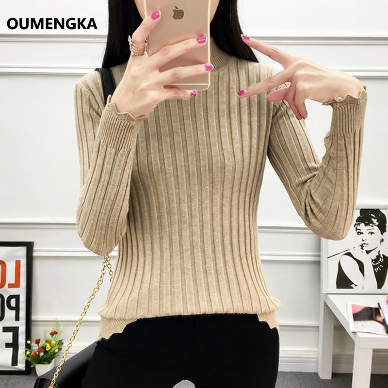 9d69d599f8 OUMENGKA Women Turtleneck Winter Sweater Women 2018 Long Sleeve Knitted  Women Sweaters And Pullovers Female Jumper Tricot Tops