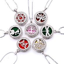 10 стилей медальон с ароматом ожерелье магнитная ароматерапия из нержавеющей стали эфирное масло диффузор духи медальон кулон ювелирные изделия