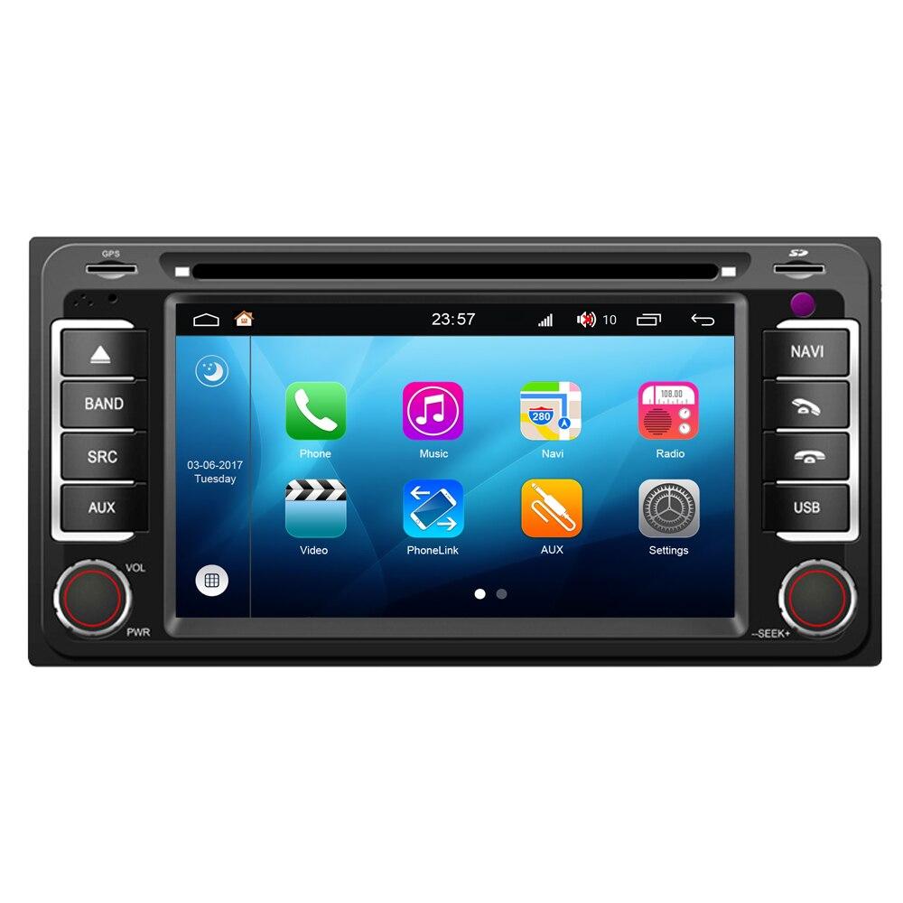RoverOne pour Toyota COROLLA E120 E130 Fielder RAV4 Android 8.0 lecteur multimédia de voiture accessoires de style multimédia pièces de rechange