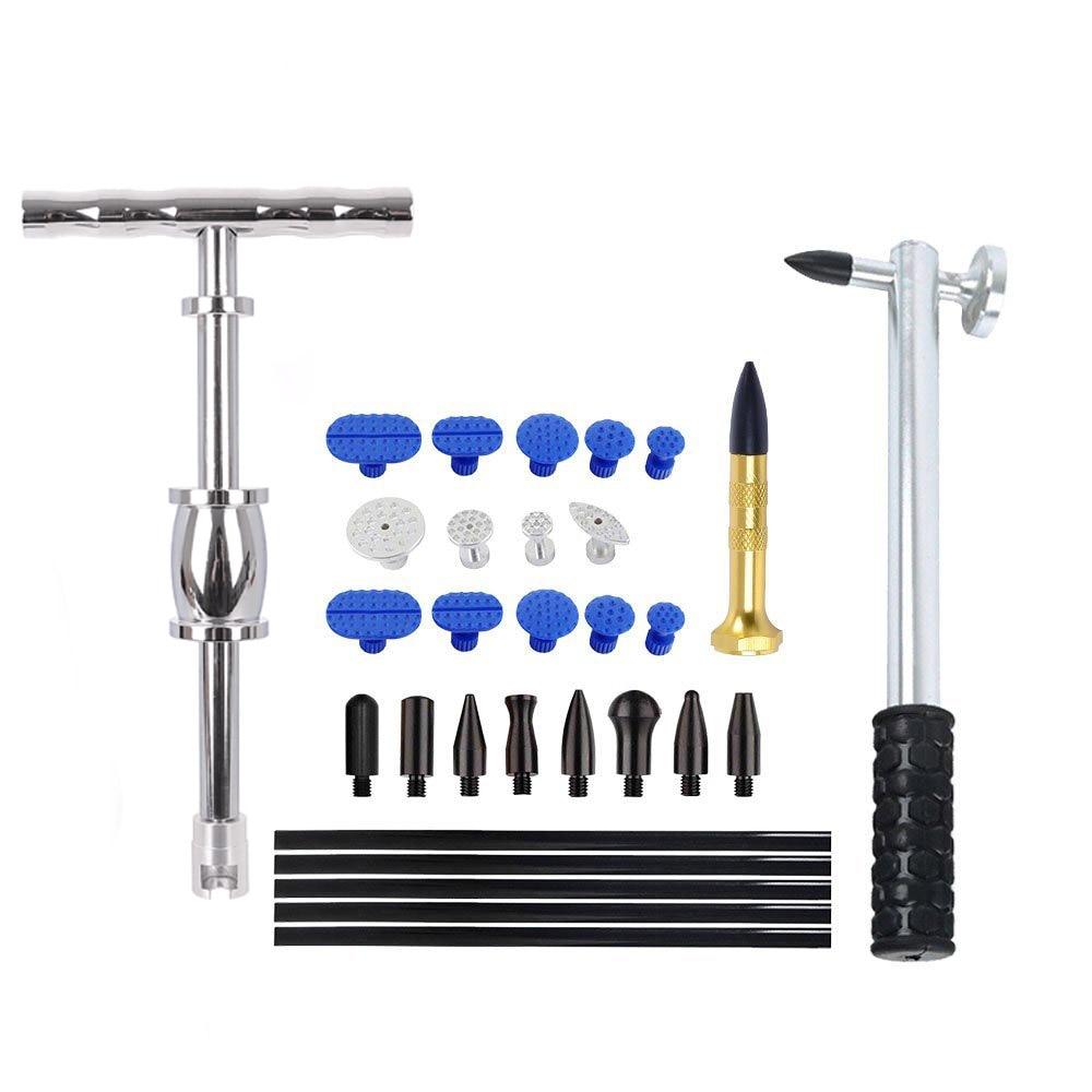 WHDZ Auto Body Dent Removal Tools Kit Slide Hammer Glue Sticks Pro Puller Tabs Dent Glue Puller kit for Door Ding Repair