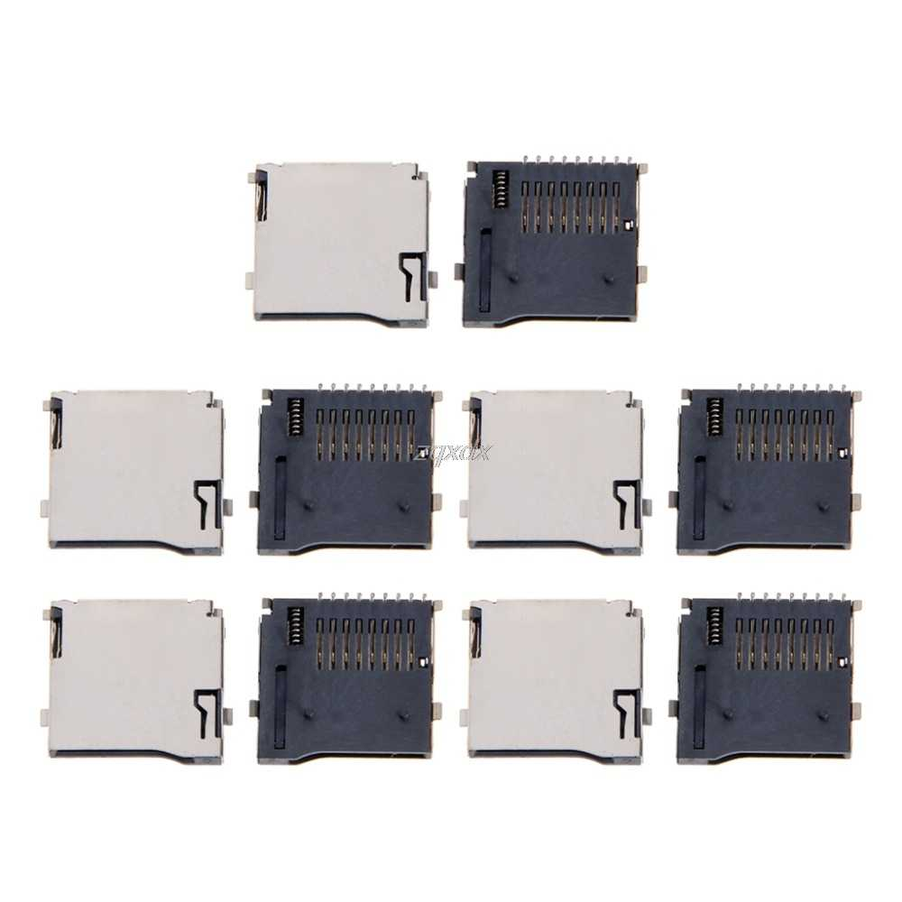 10 個プッシュプッシュタイプの TransFlash TF マイクロ SD カードソケットアダプタ自動 PCB コネクタ Whosale & ドロップシップ