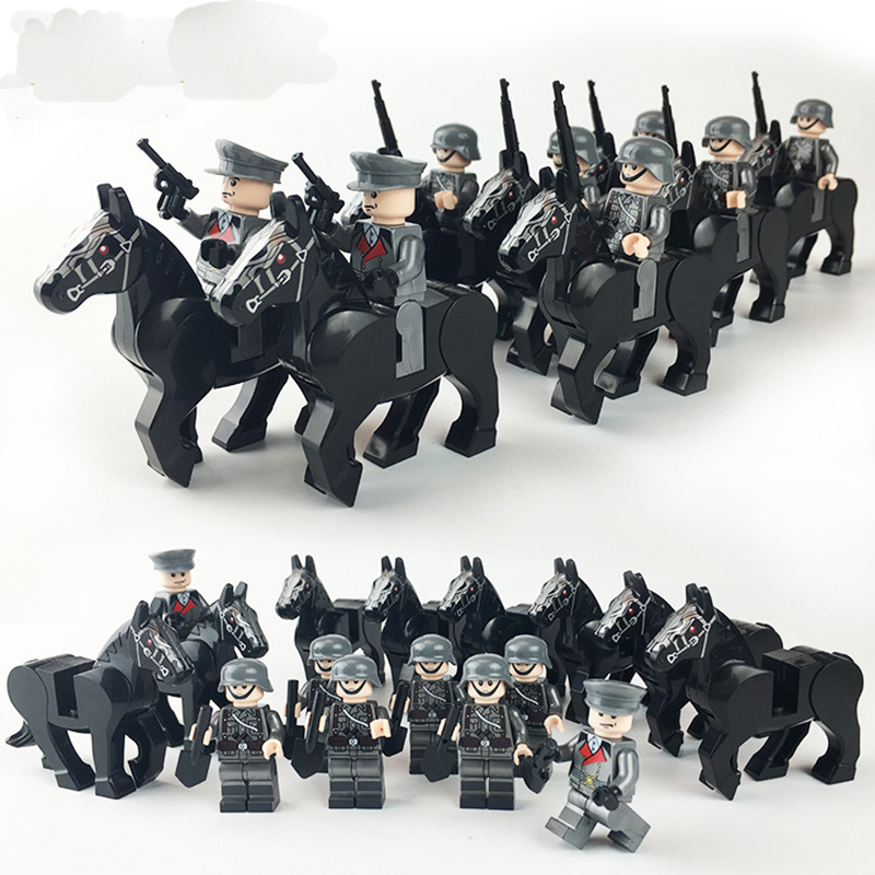 Military Swat Team Guns Weapon Pack Building Blocks City Police Soldiers Figure WW2 LegoINGlys Military Army Builder Series Toys 1