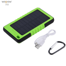 Wopow Solar Power Bank 3600mAh Portable charge powerbank Waterproof external battery Backup Battery Charge For Iphone pover bank