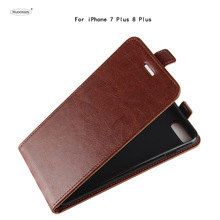 HUDOSSEN For Apple iPhone 7 Plus Case Luxury PU Leather Back Cover Coque For iPhone 8 Plus Case Flip Protective Phone Bags Skin недорого