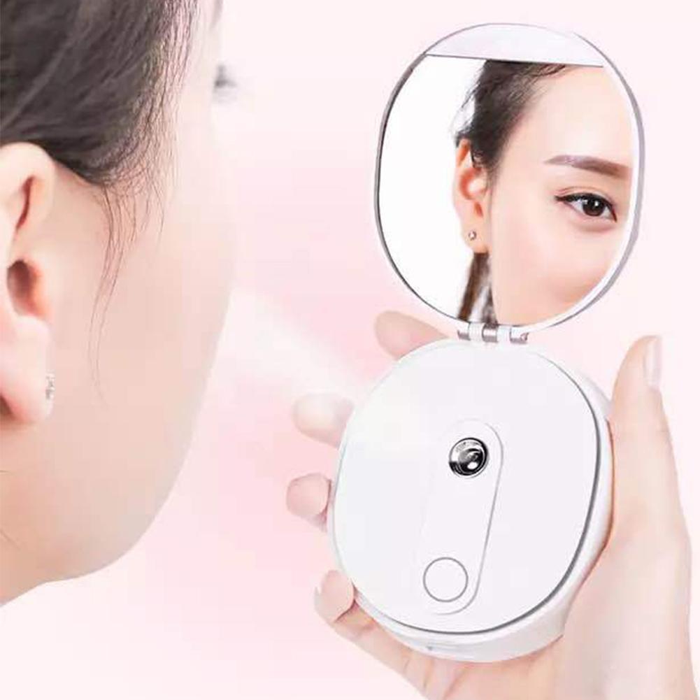Ausdauernd 35 # Multi-funktion Mini Nano Wasser Sprayer Dampf Gesicht Luftbefeuchter Ladegerät Tragbare Schönheit Spiegel Dauerhaft Im Einsatz