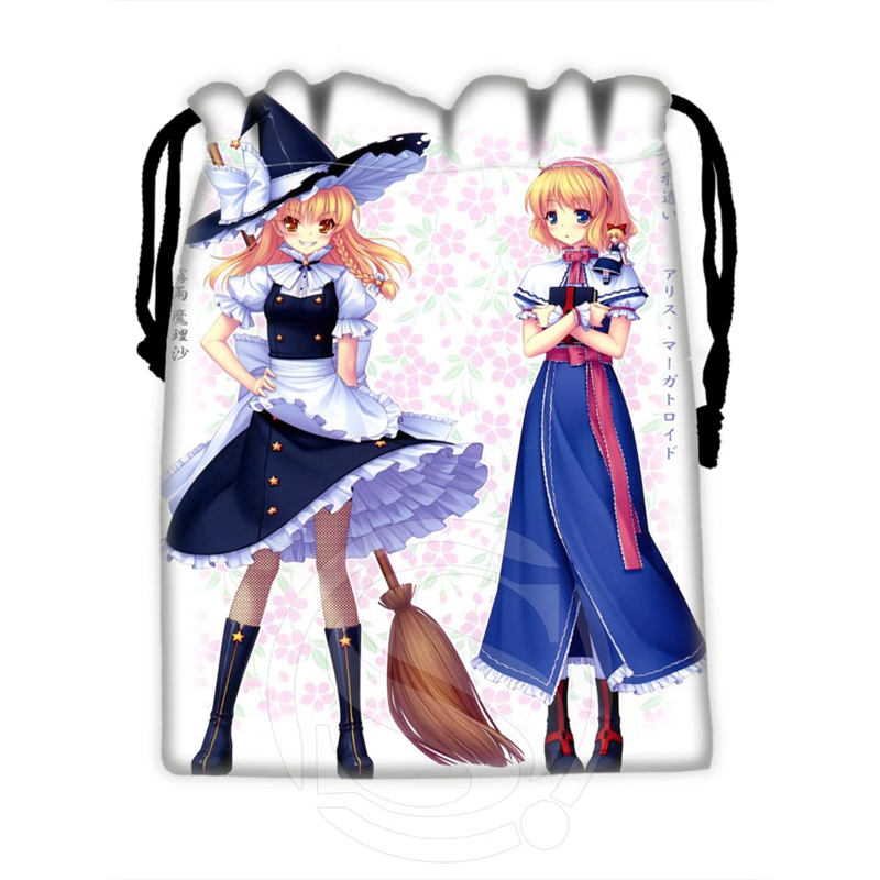 H-P823 Custom Anime Girl#48 Drawstring Bags For Mobile Phone Tablet PC Packaging Gift Bags18X22cm SQ00806#H0823