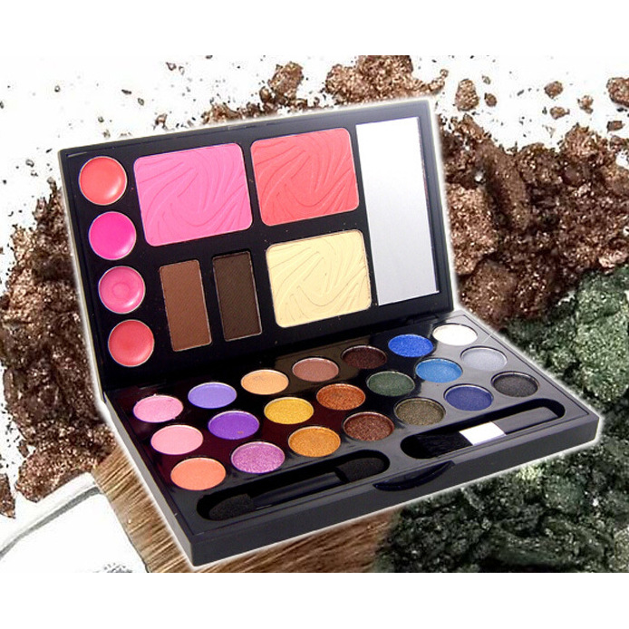 21 Color Eyeshadow Makeup Box Stereo Phantom Cosmetic Case Lip Gloss Eye Shadow Powder Luminous Natural Glitter 2 Types Commodities Are Available Without Restriction Beauty Essentials