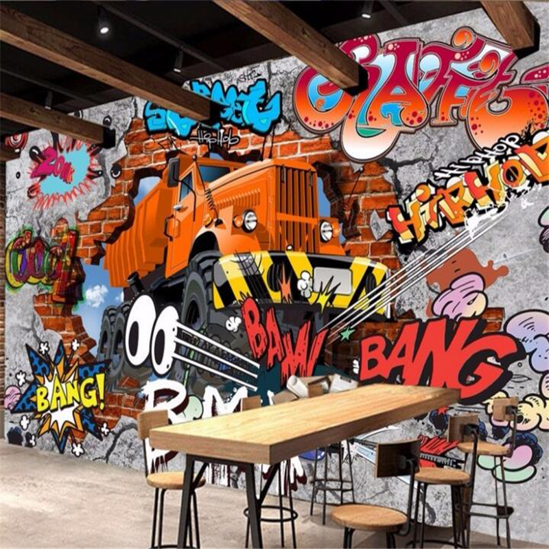 Popular 3d wallpaper cars buy cheap 3d wallpaper cars lots for Car mural wallpaper