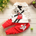 Hot Sale Autumn Baby Boys Girls Minnie Suits Children Cotton T Shirt+Pants 2 pcs Suits Kids Casual Suits